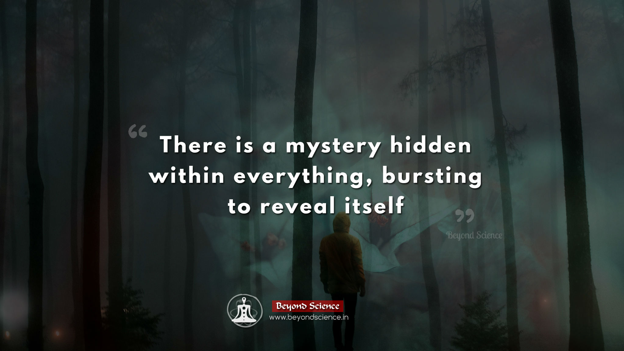 There is a mystery hidden within everything, bursting to reveal itself